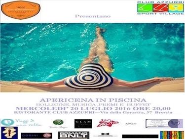 Immagine di APERICENA IN PISCINA - Mercoledì 20 LUGLIO ORE  20:00 - POOL PARTY SAIL TIME  - Brescia